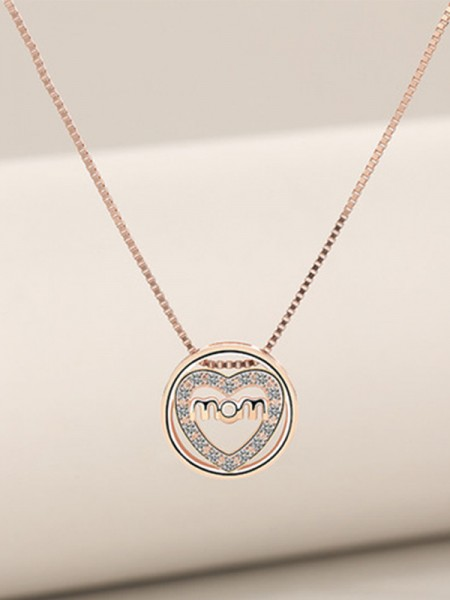 Mother's Fashion S925 Silver Zircon Necklaces