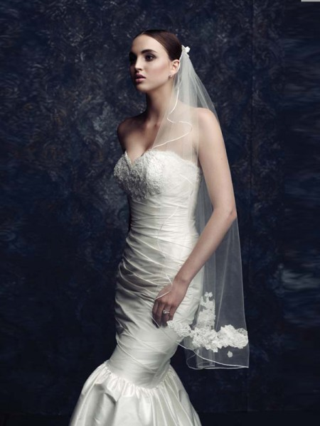 Elegant Tulle Wedding Veils With Embroidery