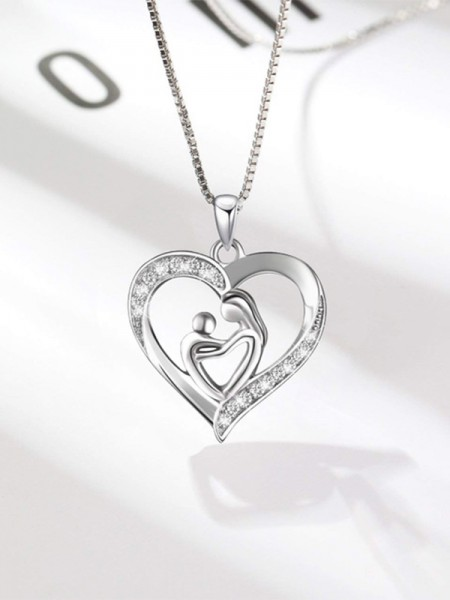 Mother's Cute S925 Silver Rhinestone Hot Sale Necklaces