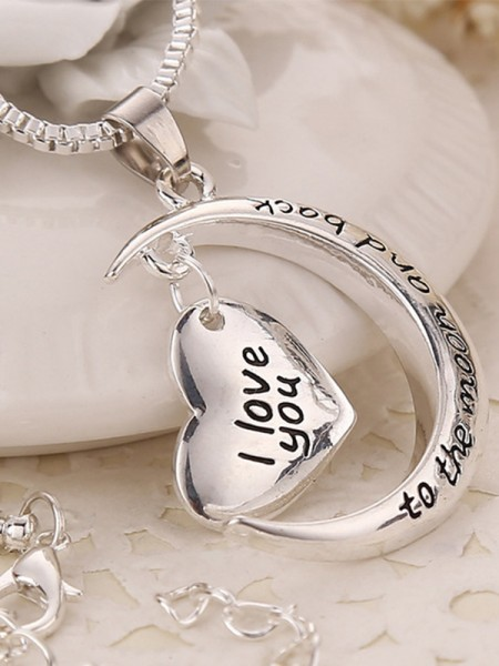Mother's Pretty Alloy Heart Necklaces
