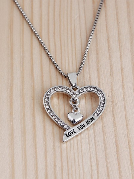 Mother's Lovely Alloy Rhinestone Hot Sale Necklaces
