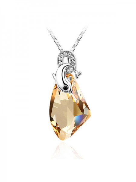 Women's Charming Alloy Crystal Necklaces