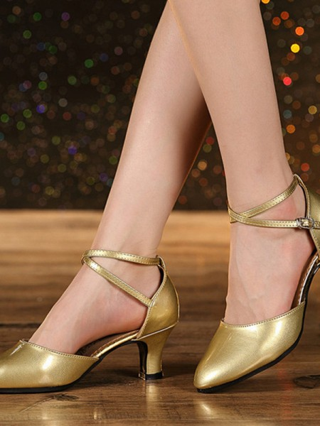Cone Heel Closed Toe Leatherette Sandals For Women